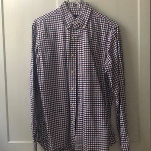 Ralph Lauren red white and blue button down